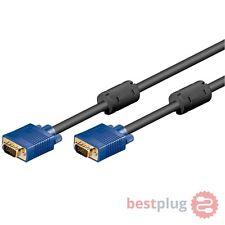 10m 10 Meter 15 polig S-VGA D-SUB Monitor Kabel Monitorkabel vergoldet schwarz