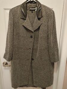 Vintage Sag Harbor Dress Woman Size 18W Dress with Coat Set Black White
