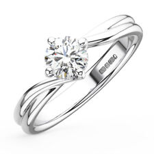 0.55CT Round Diamonds Solitaire Engagement Ring in 18K Gold