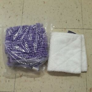Shark Steam Mop S3501 Replacement Pads 1 x Purple Mop Head and 1 x Microfibre