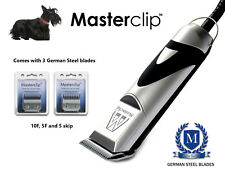 Scottish Terrier Clippers Dog Clipping Set with 3 Masterclip Clipper Blades