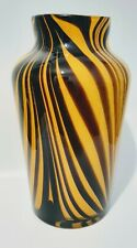 Superb Carlo Moretti Yellow Pulled Feather Studio Art Glass Vase.