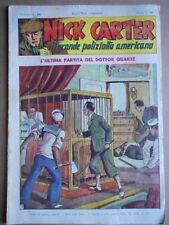 Nick Carter Il Grande poliziotto americano Anni 40 n°29 ed. NERBINI  [G369]