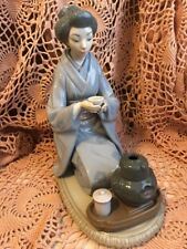 Lladro 5122 August Moon, Serving Tea Retired! See Description! No Box! L@K!