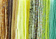 Czech Glas Perlen glatte Kugeln Rundperlen Farb- & Größenauswahl 10 Stränge