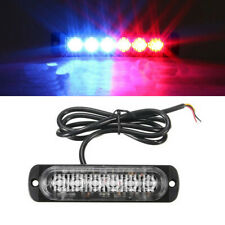 6 LED Car Truck Dash Strobe Flash Light Emergency Police Warning Red Blue