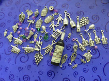 43+ SP Wine Charms:Bottles,Corkscrews,Grapes,Glasses,Goblets, Barrels FREE SHIP