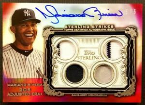 MARIANO RIVERA 2020 TOPPS STERLING Strikes ON CARD QUAD LOGO PATCH AUTO 5/5 1/1