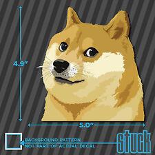 "Doge Head - 5.0""x4.9"" - printed vinyl decal sticker shiba much wow meme dog"