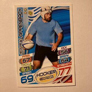Topps Rugby Attax Card 2015 #191 Nicolas Klappenbach Uruguay Hooker Creased