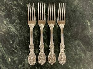 """Lot of 4 Reed & Barton Francis I Sterling Silver Luncheon Dinner Forks 7-1/4"""""""