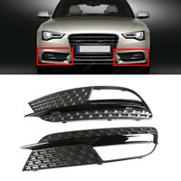 Right +Left Front Lower Bumper Grill  Fog Light Cover For AUDI A5 2012-2016