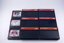 Lot of 6 Sega Master System And 3 Game Gear Retro Video Games Quartet Rocky