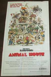 Movie Poster ANIMAL HOUSE Mint Condition