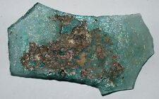 ancient roman glass fragment with nice patina . nice color.