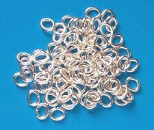 6.5 mm x 5 mm 100 SP ovale Anneaux pliés résultats pour Fabrication de Bijoux Artisanat