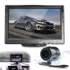 """5"""" TFT LCD Car Rear View Backup Monitor + 170° Parking Night Vision Camera Kits"""
