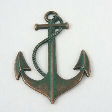 6X Vintage Bronze Alloy Boat Anchor Charms Pendant Jewelry 55*40*2mm