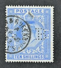 KEVII, 1902, 10s. ultramarine value, SG 265, used condition, Cat £500.