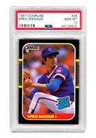 Greg Maddux (Chicago Cubs) 1987 Donruss #36 RC Rated Rookie Card PSA 10 GEM MINT