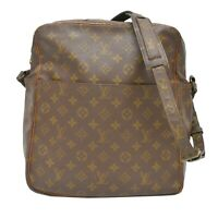 Louis Vuitton Danube GM M65262 Monogram Crossbody Shoulder Bag Brown Unisex LV