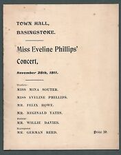 Eveline Phillips' Concert, Basingstoke, 1911, contralto, Coates, Nevin,  yb 54