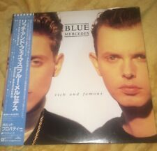 Blue Mercedes Rich and famous Vinyl Lp 1988 PWL Japanese Pressing Ex With Obi