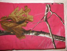 REALTREE Twin Bed Skirt & Pillow Sham Dark/Hot Pink Camo Woodland Design NIP