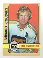 1972-73 Ron Anderson Chicago Cougars 298 OPC O-Pee-Chee Hockey Card WHA S499