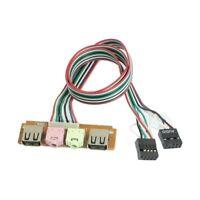 linea de cable de auricular de microfono de puerto de audio de USB de panel M6I1