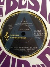 "JACKIE CHRISTIAN & FLIGHT A RADIO PROMO AUSTRALIA 45 7"" ALBERT PRODUCTIONS AC/DC"