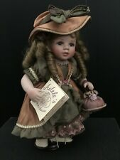 """Adele's Puppenhaus """"Liliana"""" Porcelain German Doll with stand - No. 20/1000"""
