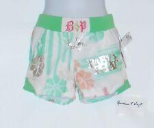 Baby Phat Girls Embellished Artwork Lined Shorts White Large (L) NWT