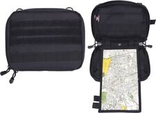 Black Advanced Tactical Admin Pouch Combat MOLLE Map & Document Case