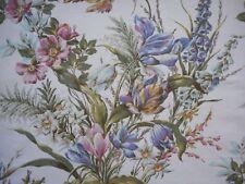Unused vintage 50's cotton Sanderson floral fabric - 'Profusion' - 1.3M lengths