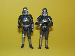 Star Wars TAC Walmart Force Unleashed Shadow Stormtrooper Lot of 2 Loose