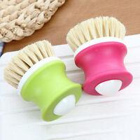 Dish Brush Kitchen Pot Pan Bowl Scrubber Liquid Soap Dispensing Washing Tool G