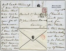 GB 1885 NETHER SEALE HALL MOURNING STATIONERY..EUSTON HOTEL + RUSSELL + CRETONNE