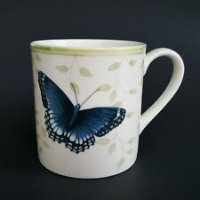 Lenox Butterfly Meadow Sentiment Mug Relax Blue Butterfly w/ Ladybug