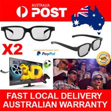 2pcs Polarised Passive 3D TV Glasses for Samsung LG Panasonic Polarized LCD TV