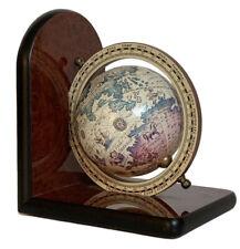 """Globe World Map Ocean Earth Book End Office Table Decor 6 3/4"""" High"""