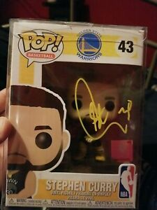STEPHEN CURRY 30 STEPH SIGNED AUTOGRAPHED FUNKO POP VINYL TOY 43 EXACT PROOF PIC