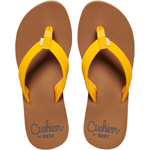 Reef Womens Cushion Breeze Casual Beach Pool Sandals Thongs Flip Flops - Saffron