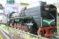 China Rail Eisenbahn Gas-turbine QJ 0001 Steam Locomotive Dampflok BR 2-10-2 HO