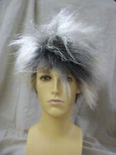 Wild Boy Wig Blonde Black Roots Spike Punk EMO Grunge Frenzy David Bowie B Idol