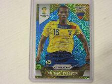 2014 National Convention FIFA World Cup Soccer Blue Prizm Card Antonio Valencia