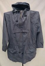 Ralph Lauren Country Dry Goods Jacket COTTON NYLON Gray Lg Pullover Hood Pouch