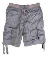 Men's Airwalk Grey Cargo Combat Shorts with Elasticated Waistband RRP $44.00