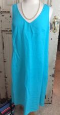 J. Jill Linen Dress Med Tall Long High Low Maxi Sleeveless Dress  H