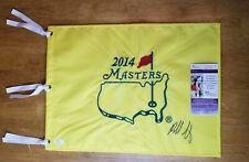 Bubba Watson Signed 2014 Masters Golf Pin Flag JSA COA